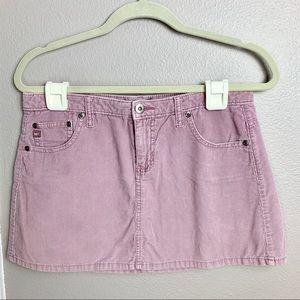 L.E.I. Pink courdoroy mini skirt